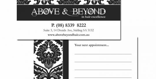 Single Colour Appointment Card