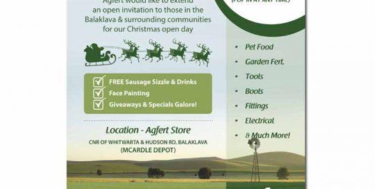 Agfert open day invite