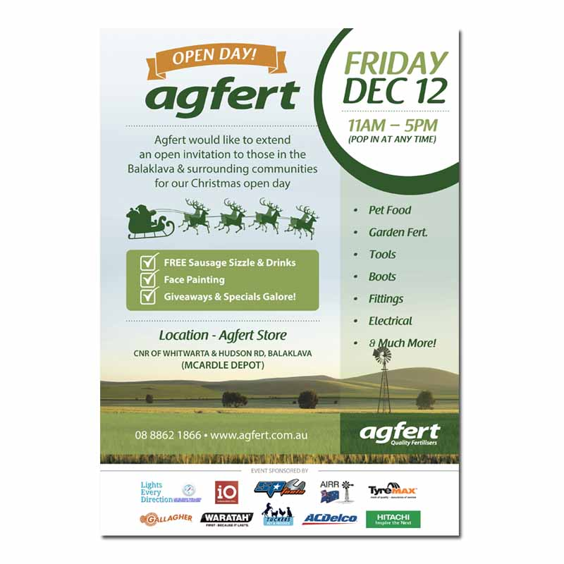Agfert open day invite