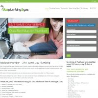 ABA Plumbing & Gas Website